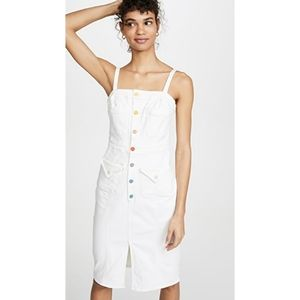 MOTHER To the Point Denim Buttonfront Dress